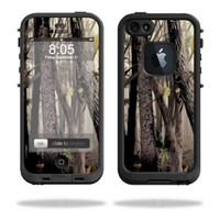 Mightyskins Protective Vinyl Skin Decal Cover for LifeProof iPhone 5 Case 1301 fre wrap sticker skins Tree Camo
