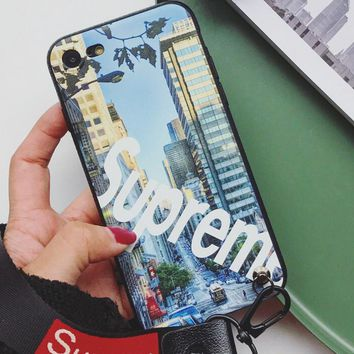 My City Pattern Case for iPhone X 8 7 6S Plus &Gift Box