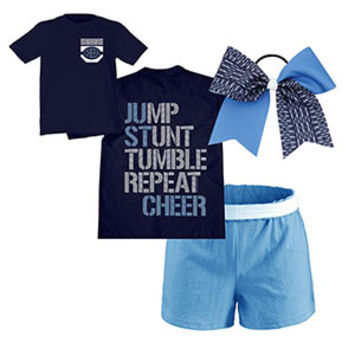 Jump, Stunt, Tumble Repeat Cheer Campwear Package
