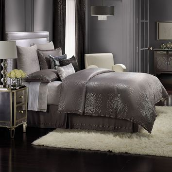 Jennifer Lopez bedding collection Parisian Dusk 3-pc. Duvet Cover Set - King (Grey)