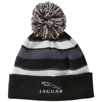 Jaguar 223835 Holloway Striped Beanie with Pom