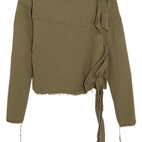 Vivienne Westwood Anglomania - Balloon frayed crepe blouse