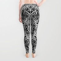 Black White | Leyana Leggings by Webgrrl