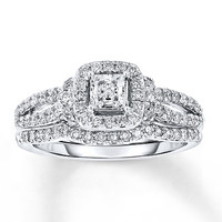 Diamond Bridal Set 1 1/8 ct tw 14K White Gold