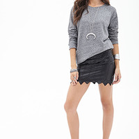 FOREVER 21 Knit Crew Neck Sweatshirt
