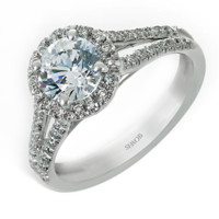 Halo Engagement Ring KS9065-R - Rings