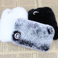 Chic Elegant Synthetic High Grade Rabbit Fur iPhone 4/4S Case Cover