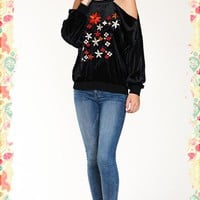 In Tune With Velvet Blooms Top