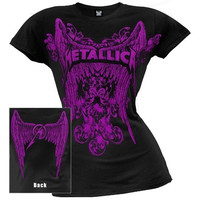 Metallica - Winged Logo Ladies T-Shirt (Size: L, Color: Black) = 1956875716