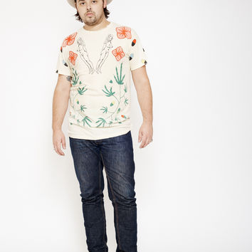 Gilded Palace of Sin Men's Crew - Dirty White