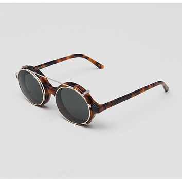 Han Kjobenhavn - Doc Clip On 47mm Amber Sunglasses / Black Lenses
