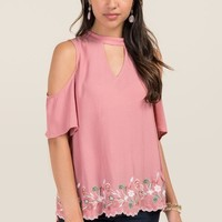 Jordayn Gigi Scallop Embroidered Hem Top