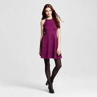 Women's Halter Neck Skater Dress - Mossimo Supply Co. (Junior's) - Purple Chevron