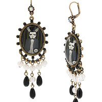 WONDERLAND RABBIT CHANDLER EARRING BLACK