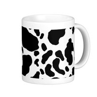 Spotted Cow Print, Cow pattern, Animal fur Classic White Coffee Mug