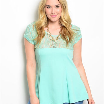 Mint Plus Size Top (XL through XXXL)