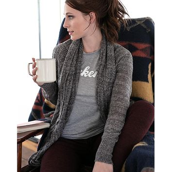 Grace & Lace (New & Improved) Cold Weather 2-Fit Knit Cardigan (Marled Charcoal)