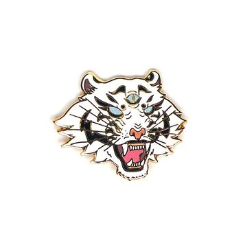 White Tiger Pin