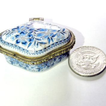 SALE ceramic Jewelry box,vintage jewelry box,small box 70's