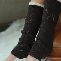 Lace Top Leg Warmers