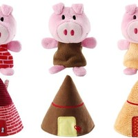 Big Bad Wolf and Three Little Pig Hand Puppets