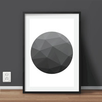"Geometric Art Print | Printable Modern Art | Minimalist art print | Scandinavian Large print scalable to 20""x28"" size"
