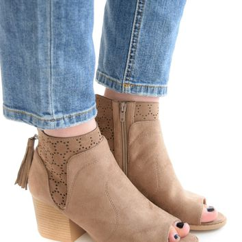 Wild And Free Peep Toe Bootie