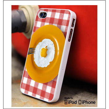 Apple Fried Eggs iPhone 4s iPhone 5 iPhone 5s iPhone 6 case, Galaxy S3 Galaxy S4 Galaxy S5 Note 3 Note 4 case, iPod 4 5 Case