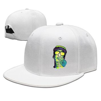 Wiz Khalifa Cool Design Painting Poster Cotton Unisex Adult Womens Hip-hop Hat Mens Snapback Caps