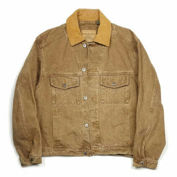 Timberland Jean Jacket Size M, Timberland Denim Trucker, Wheat Timbs Pullover