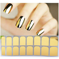 Gold Nail Wraps/Metallic Nails/ Nail Trend/ Flashy Nails