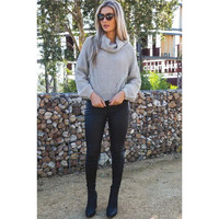 Cowl Neck Loose Sweater 13139