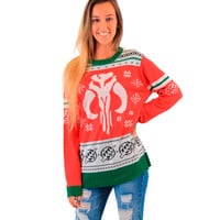 Star Wars Mandalorians Bounty Hunter SNOWFLAKES Ugly Christmas Sweater