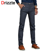 Men Stretch Casual Dress Pants Classic Quality Business Trousers White Beige Black Blue