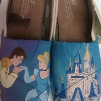 Cinderella's Happily Ever After hand painted TOMS
