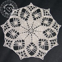 Small Doily A (7-8 inches) from Heritage Heartcraft