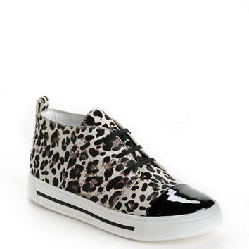 Marc By Marc Jacobs Leather Calf Hair Chukka Sneakers