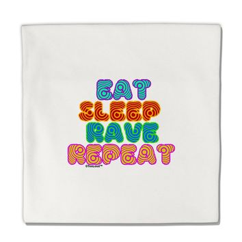 "Eat Sleep Rave Repeat Hypnotic Micro Fleece 14""x14"" Pillow Sham by TooLoud"