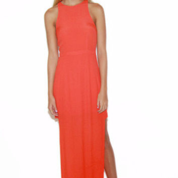 MINKPINK The Runaway Dress in Tangerine