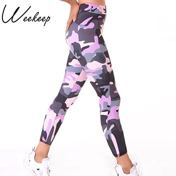 Camouflage Fitness Sporting High Waist Workout Legging