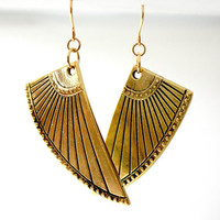 Art Deco Nefertiti Wings Earrings // Warrior Fierce