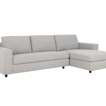 ENTHRALL MARBLE FABRIC SEATS WITH BLACK SOLID WOOD LEGS SOFA CHAISE RAF