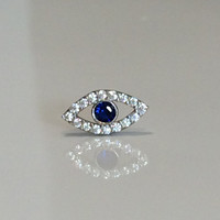 Evil Eye silver & zirconia earrings