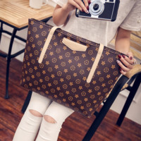 Large Printed Handbag Shoulder Bag