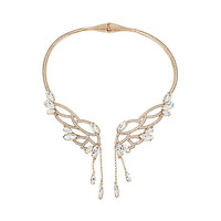 HEAVEN SENT CRYSTAL WINGS COLLAR: Betsey Johnson