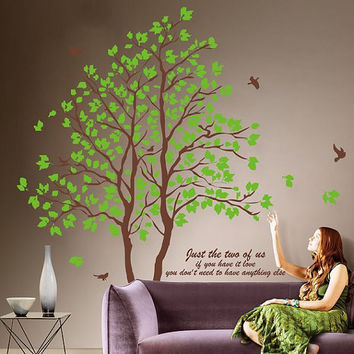 Big tree Lover tree-wall decals wall sticker wall decal