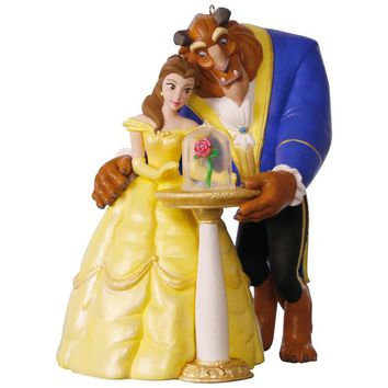 Disney Beauty and the Beast Tale as Old as Time Ornament With Light and Music