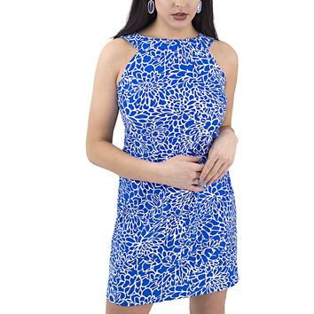 Women's Sleeveless Flower Print Dress