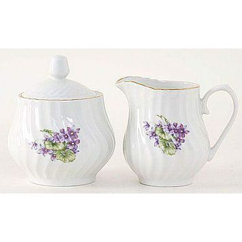 Margeurite Porcelain Creamer & Sugar Set