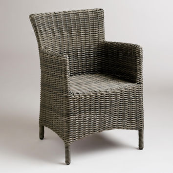 Solano All-Weather Wicker Dining Armchair - World Market